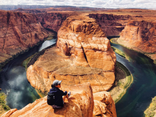Photo on the edge of Horseshoe BEnd