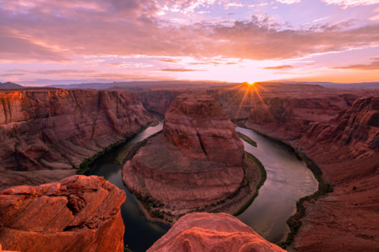 Horseshoe Bend With Grand Canyon