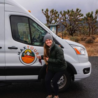 Sweet new decals for our small group tour vans! This one looks great on the van we named Vanna White. . . . . . #smallgrouptours #smallgrouptravel #maxtourvegas #fordtransit
